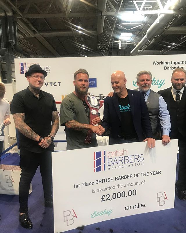 Jay winning british barber of the year 2018
