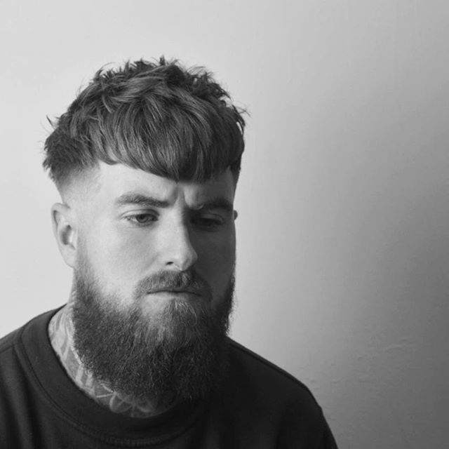 Modern Textured haircut and beard trim